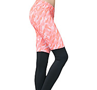 Women's Sexy Quick Dry Tights Compression Patchwork Long Sports Pants Fitness Running Leggings S/M/L