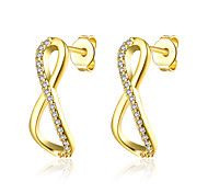 lureme Fine Jewelry 18K Gold Fashion Charms 8 Words Diamond Earrings