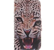 Leopard  Pattern PU Leather Full Body Case with Card Slot for Samsung Galaxy J3 J3 (2016)