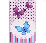 Per Porta-carte di credito / A portafoglio Custodia Integrale Custodia Farfalla Resistente Similpelle Samsung Tab A 7.0
