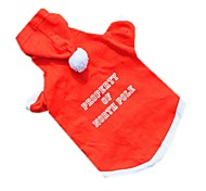 Dog Costume / Coat / Hoodie / Sweatshirt / Outfits / Vest Red Dog Clothes Winter / Summer / Spring/Fall SolidCute / Casual/Daily /