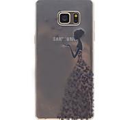 Для Samsung галактики примечание 5 красоты образец высокой проницаемости tpu материал телефон случае