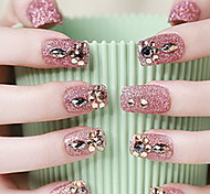 The Bride Manicure Lovely Patch Nail Finished Red False Nails Fingernails