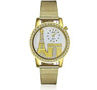 Women's Dress Watch / Fashion Watch Quartz Water Resistant/Water Proof Alloy Band Charm / Casual Gold Brand