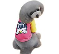 Dog Sweatshirt Orange / Yellow / Blue / Pink / Gray Dog Clothes Winter / Spring/Fall Cartoon Cute / Fashion