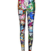 Printing Slim Thin Feet Pencil Pants Casual Pants