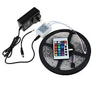 5M SMD3528 RGB Waterproof 24Keys IR Remote Control 2A Power 300 LED IP65 LED Strip Light(DC12V)