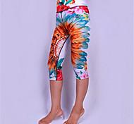 Pantalones de yoga 3/4 Medias/CorsarioTranspirable / Secado rápido / Diseño Anatómico / Compresión / A prueba de resbalones / Reductor