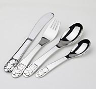 Acier inoxydable 304 Fourchette de table / Couteau de table Cuillères / Fourchettes / Couteaux 4 Pièces