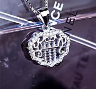Women's Jewelry S925 Silver Zircon Charm Lock-shaped Pendant for Women