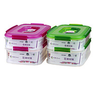 Portable Food Fresh Container with Handle Double Layer (2.3L1.75L0