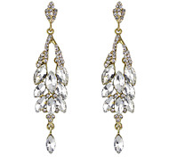 Colorful Rhinestone Long Wedding Earrings for Women