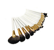 24 Makeup Brushes Set Synthetic Hair Portable Wood Face G.R.C / Send Package