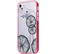 Para Funda iPhone 7 / Funda iPhone 6 / Funda iPhone 5 Transparente / Diseños Funda Cubierta Trasera Funda Flor Suave TPU AppleiPhone 7