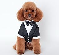 Кошка Собака смокинг Одежда для собак Очаровательный Косплей Свадьба Бант Черный