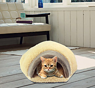 Cat Bed Pet Cushion & Pillows Soft Brown