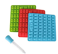 53 Cavity Silicone Bear Shape Baking Ice Cube Tray Candy Chocolate Molds Making Gummy