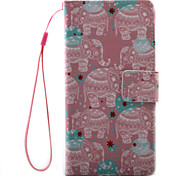 For Sony Xperia X XA Case Cover Auspicious Elephant Pattern Painting PU Leather Material Card Stent for XP XZ