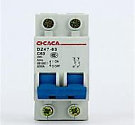 маленький выключатель dz47-2p 10a-32a выключатель воздушный выключатель