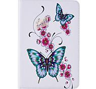 Für Kreditkartenfächer / mit Halterung / Geprägt / Muster Hülle Handyhülle für das ganze Handy Hülle Schmetterling Hart PU - Leder Apple