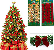 12 Personal Computer Christmas Tree Bownot Decoration Decoration Christmas Wedding Garden Decoration