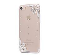 Für Hüllen Cover Strass Rückseitenabdeckung Hülle Blume Hart PC für AppleiPhone 7 plus iPhone 7 iPhone 6s Plus iPhone 6 Plus iPhone 6s