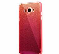 Для samsung galaxy j7 (2016) j7 сплошной цвет мигающий синий свет pc tpu акриловый тройной материал телефон случай