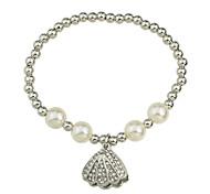 Fashion Silver Color Imitation Pearl Chain Bracelet