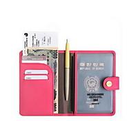 Travel Passport Holder & ID Holder Waterproof / Dust Proof / Portable Travel Storage PU Leather