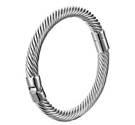 Twisting Titanium Steel Wire Bangle