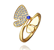 Jewelry Women Alloy Butterfly Gold Ring