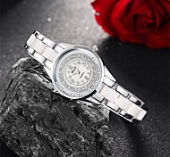 Women's Fashion Watch / Bracelet Watch Quartz Water Resistant/Water Proof Alloy Band Charm / Casual Silver / Pink Brand