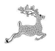 Christmas Gift Trade Deer Brooch Diamond Brooch