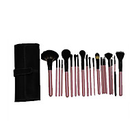 18 Makeup Brushes Set Synthetic Hair Portable Wood Face G.R.C