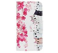 Для samsung galaxy s7 край s7 для цветов и кошек для рисования pu phone case