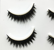 Eyelashes lash Full Strip Lashes Eyes Thick Volumized Handmade Fiber Black Band 0.07mm 10mm