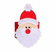 4 шт Рождество Санта-Клаус ресторан салфетку кольцо держатели салфеток стол Xmas декор