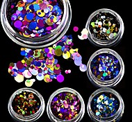 3g Mini Shining Round Shape Mixed Size Nail Art Glitter Paillette 3D Nail Decorations Tips P01-08