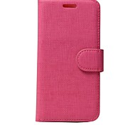 Luxury Solid color Wallet PU Leather Flip Case with Magnetic Snap and Card Slot for iPhone 7/iPhone 7 Plus