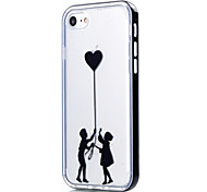 For iPhone 7 Case / iPhone 6 Case / iPhone 5 Case Transparent / Pattern Case Back Cover Case Heart Soft TPU AppleiPhone 7 Plus / iPhone 7