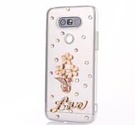 For LG  G5 SE G4 K10 Rhinestone Case Back Cover Case Flower Hard PC For LG K7 LG K4 LG G3 LG V10