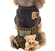 Dog Sweater Dog Clothes Keep Warm Animal Rainbow