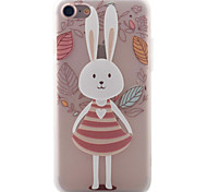 For Apple iPhone 7 7Plus 6S 6Plus Case Cover Cartoon Rabbit Pattern Painted TPU Material Soft Package Phone Case