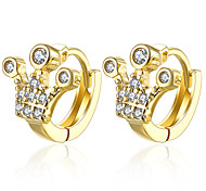 Queen's Crown Shaped 18K Gold Plated Dlip Earrings For Women Gold Ear Cuff Clip On Earring Female E136