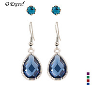 Brand Blue/Purple/Green/Red Water droplets Crystal Alloy  Hook Drop Earring Set For Women Christmas Gift ER154610