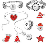 Jewelry Set / Chrismas Heart Halloween Daily 1set 1 Necklace 1 Bracelet Rings 1 Package Wedding Gifts