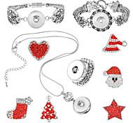 Schmuck 1 Halskette 1 Armreif Ringe 1  Verpackung / Halloween Alltag 1 Set Damen Silber Rot Hochzeitsgeschenke