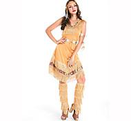Festival/Celebração Trajes da Noite das Bruxas Amarelo Estampado Vestido / Bracelete / Aquecedores de Pernas / Decoração de CabeloDia Das