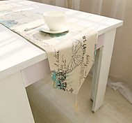 Square Patterned / Floral Table Runner , Cotton Blend Material Hotel Dining Table / Table Decoration