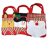 Fashion Style Chrismas Santa Claus Candy Gift Bags Handbag Pouch Present Bag Christmas Decoration 2016 Gift 2pc